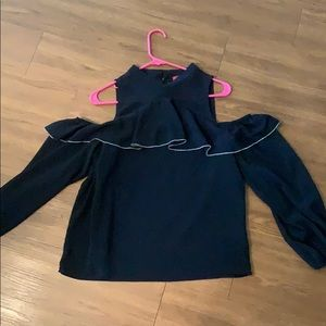 Saks Fifth Avenue Navy Blue Top NWOT